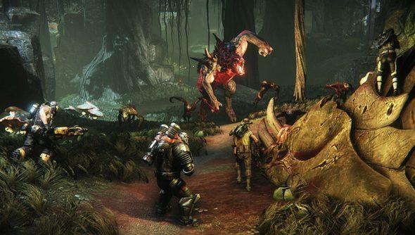 Evolve: a four-versus-one tank hunt?
