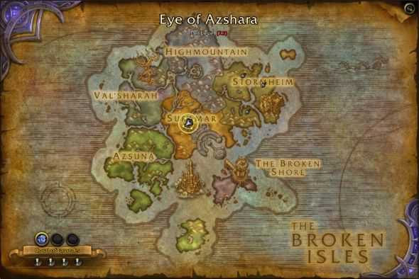 Eye of Azshara is the highlighted island at the south here.