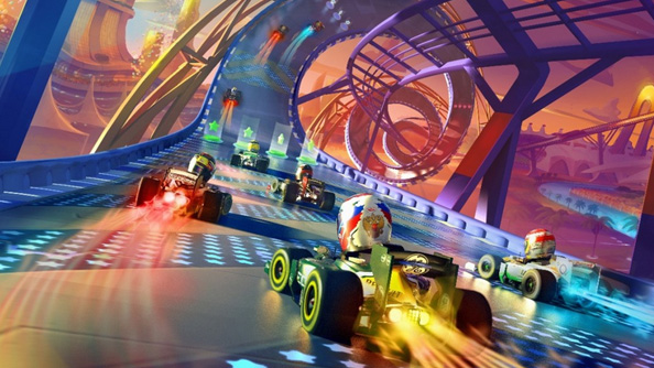 F1 Race Stars features creepy bobble-heads, looks like Trackmania-style arcade fun