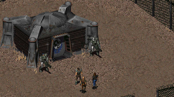 Fallout 1: do not expect to find any heroes in the Brotherhood of Steel.