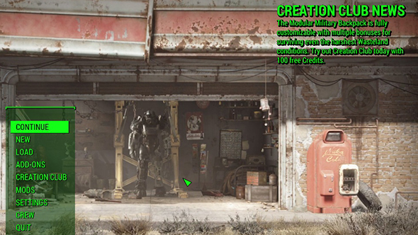 Fallout 4 mod aims to remove Creation Club news | PCGamesN