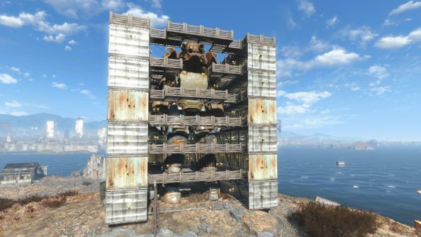 Best Fallout 4 settlements mech hangar