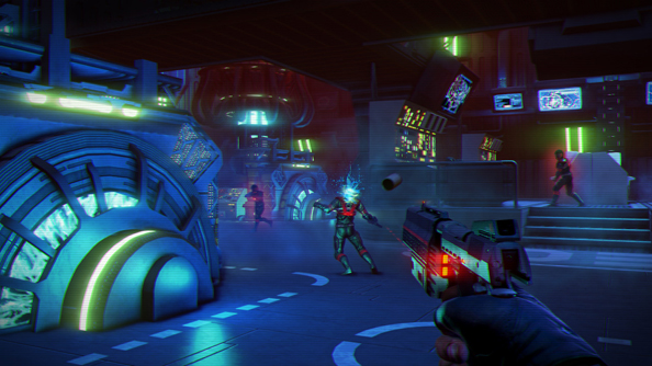 Far Cry 3: Blood Dragon: Colourful, like its parent game. But oh so different.