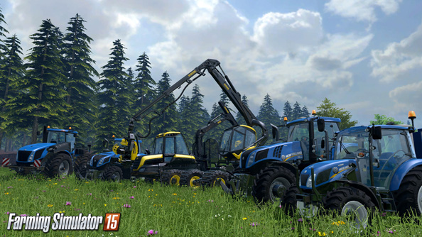 Farming Simulator 15: not even those trees are safe.