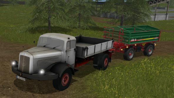 Farming Simulator 2017 mercedes flatbed