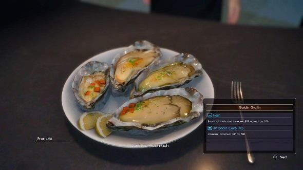Final Fantasy XV food
