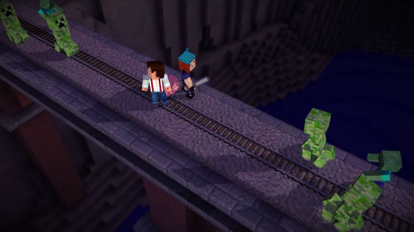 Telltale preview Minecraft: Story Mode with creeper filled trailer
