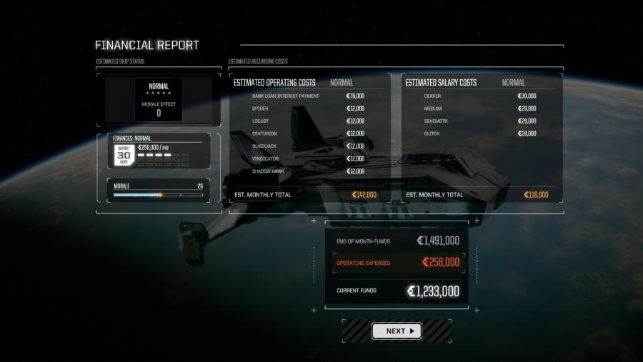 battletech financial report