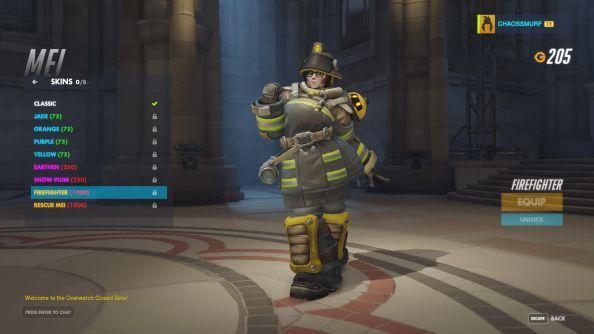 Firefighter Mei skin