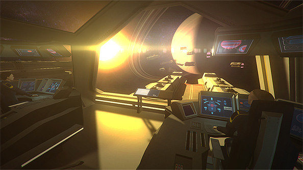 Flagship is an Oculus Rift powered first person RTS in space