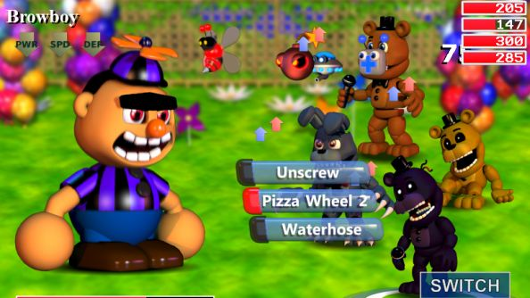 FNaF World battle system