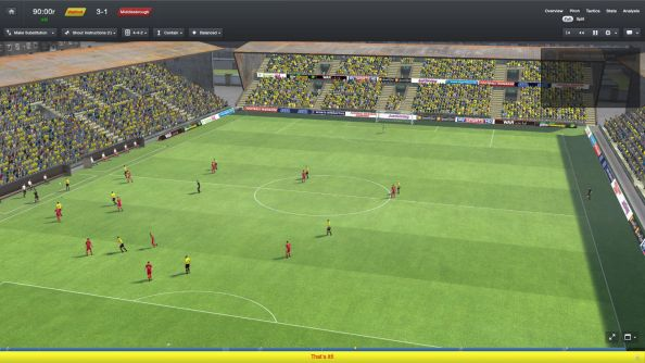 Football Manager 2014 match engine looks a bit like the telly