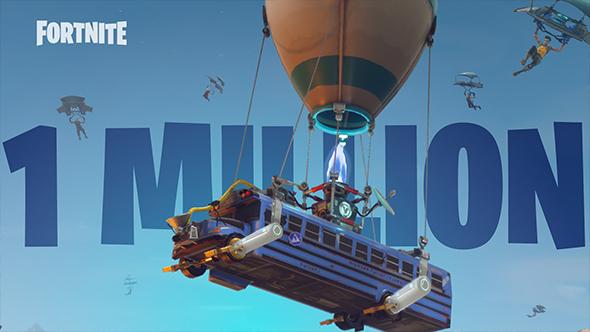 fortnite battle royale 1 million players