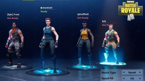 Fortnite Battle Royale squads