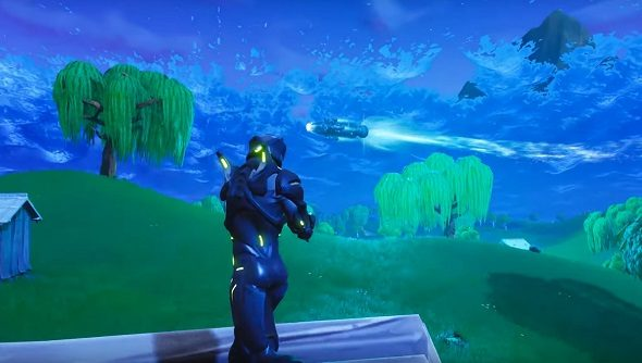 fortnite s rocket launched and it cracked space time - what time is the rocket launching in fortnite