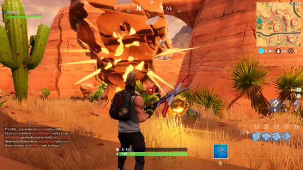 fortnite search between oasis rock archway dinosaurs