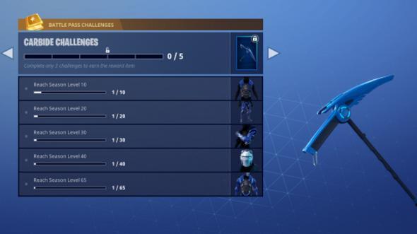 fortnite season 4 challenges carbide