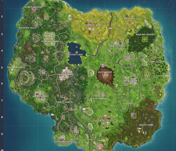 fortnite season 4 map