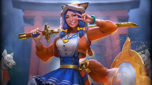 Foxy Amaterasu Smite Skin
