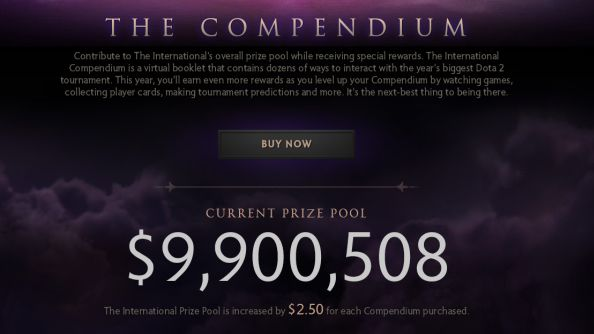 Dota 2 Compendium Prize Pool