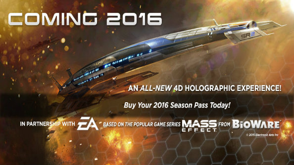 "Mass Effect is getting a ""4D holographic experience"" at California's Great America amusement park"