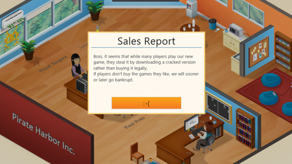 Greenheart Games release modified version of Game Dev Tycoon to pirate the pirates