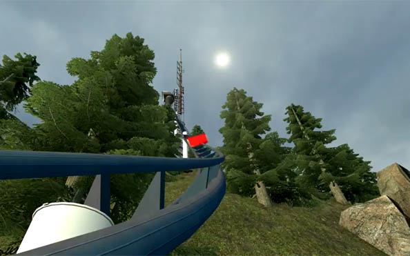 Garry's Mod mod lets you ride roller coasters. Is amazing