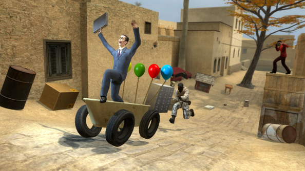 Garry's Mod Kinect is out; watch and be amazed as people play football virtually with their physical hands and feet