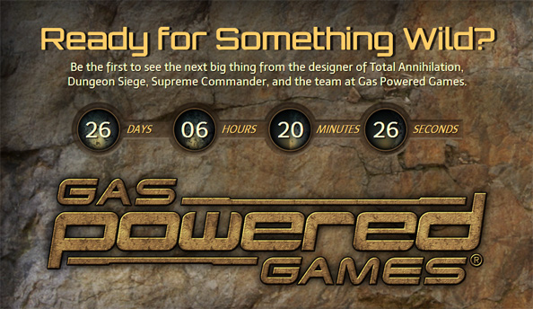 Gas Powered Games are up to something; they've launched a countdown