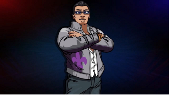 Saints Row's Johnny Gat in Divekick