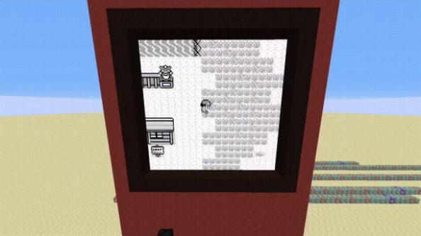 Playable Pokémon Red recreated within giant Minecraft redstone machine