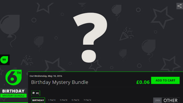 Get a mystery PC game for $0.06 in Green Man Gaming's Birthday Bundle sale