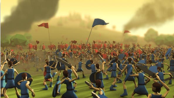 Godus multiplayer footage shows how wars were won in the times before godlike powers