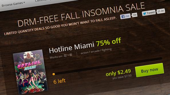 GOG Fall Insomnia sale