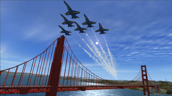 FSX Blue Angels show off aerobatic skills at virtual air show