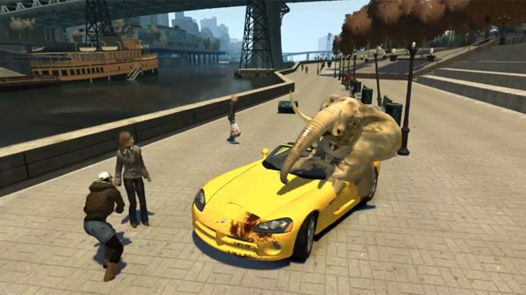 Here's a GTA 4 mod that turns you into an elephant
