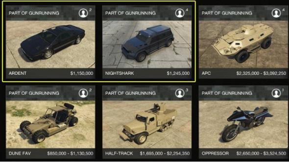 GTA online leaked vehicles