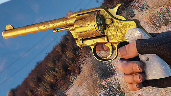 gta online red dead redemption 2 revolver