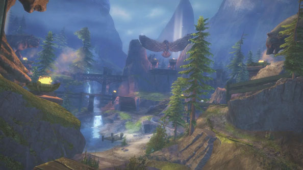 Guild Wars 2 video gives flyby of new PvP map Spirit Watch; many a stone animal is to be marvelled at