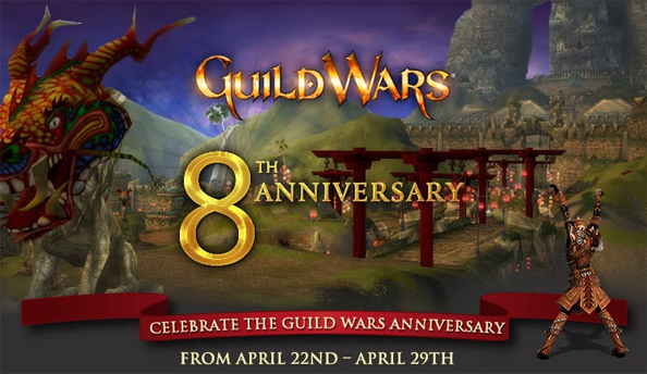 Guild Wars eighth anniversary celebrations start Monday with dodgeball, Rollerbeetle racing, and special item drops