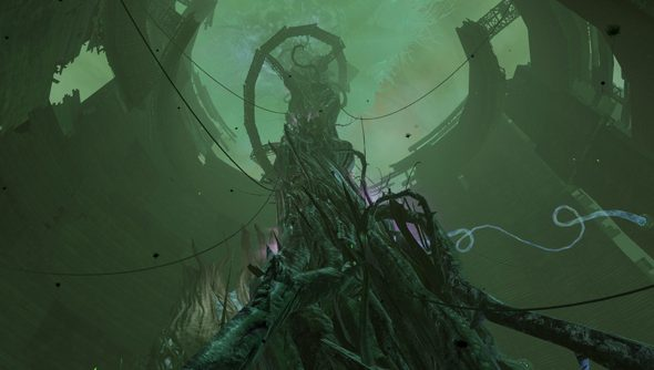 The biological tower erected for Briar in the October Tower of Nightmares update.