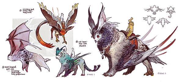 Guild Wars 2 Griffon concept art