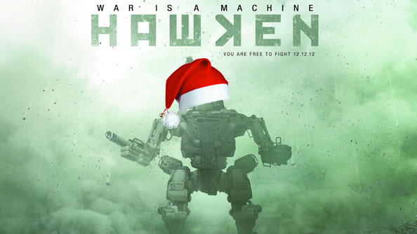 Hawken Christmas map teased. Fingers crossed for mech-sized Father Christmas hats