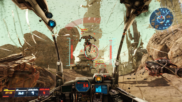 Hawken trailer shows new map Facility in all its floating rock desert glory