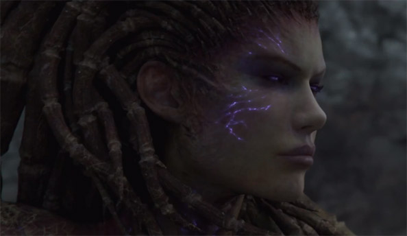 StarCraft 2 Heart of the Swarm intro video released sans game