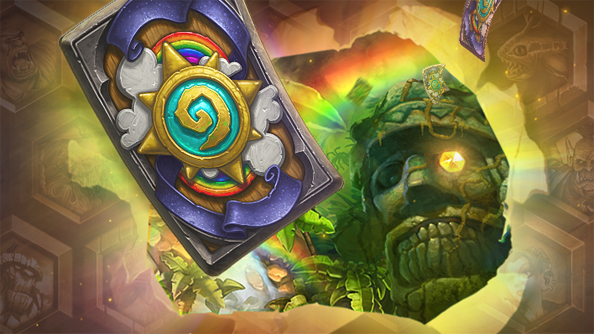 The new Rainbow! card back in Hearthstone is as loud as its name.