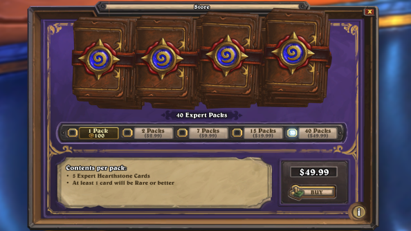 Hearthstone Store