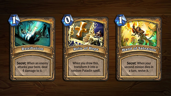 hearthstone arena blizzcon cards paladin