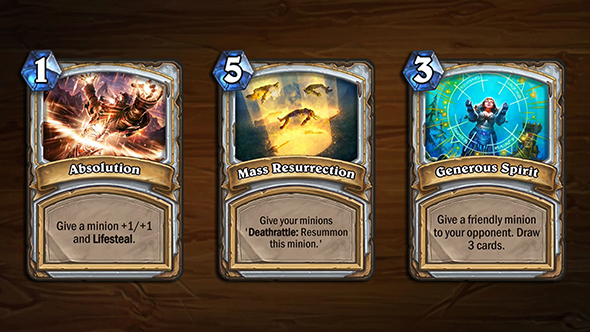 hearthstone arena blizzcon cards priest