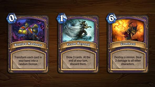 hearthstone arena blizzcon cards warlock